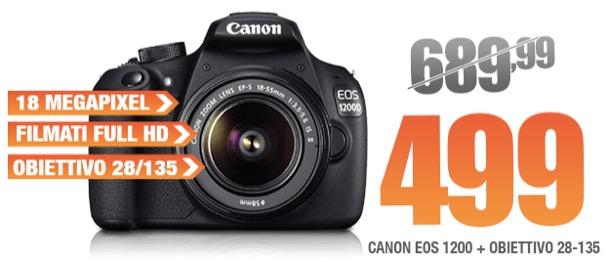 Canon EOS 1200D + Obiettivo stabilizzato 28-135 in offerta su ...