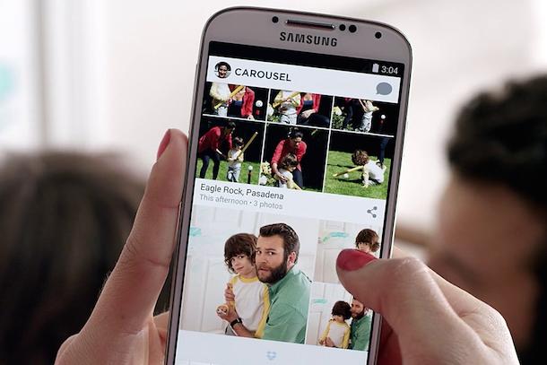 Carousel, liberate il vostro smartphone dalle foto ingombranti