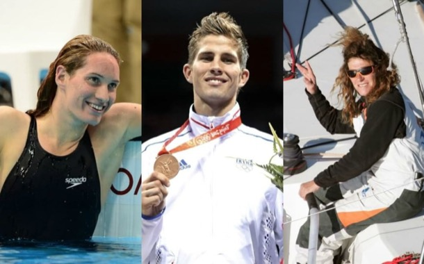 Camille Muffat, Florence Arthaud e Alexis Vastine