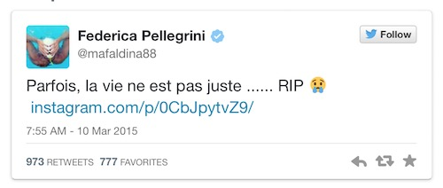 tweet pellegrini