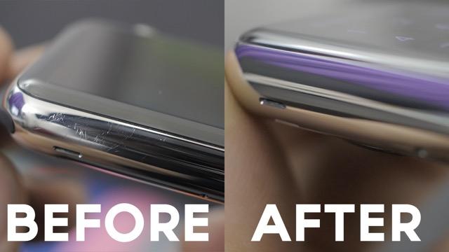 Apple Watch graffi prima e dopo