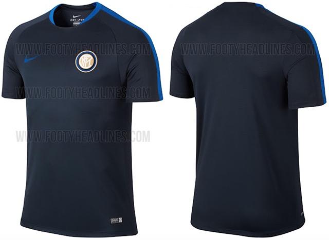 Inter nike maglia alenamento 15-16