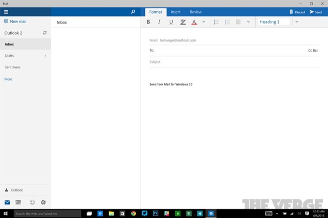 Mail Windows 10