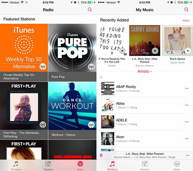 Musica iOS 8.4