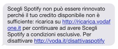 Vodafone Scegli Spotify