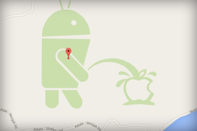 google maps android Apple scherzo