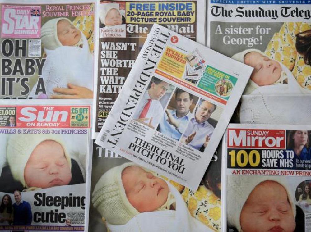 giornali royal baby