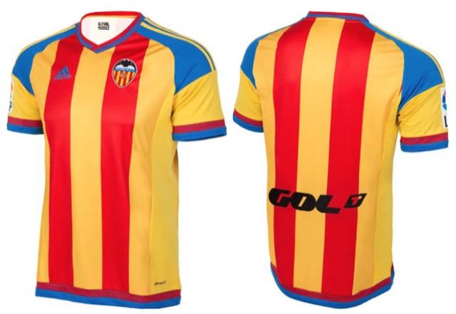 Valencia nuova maglia 2015-2016
