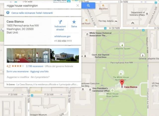 casa bianca nigga google maps