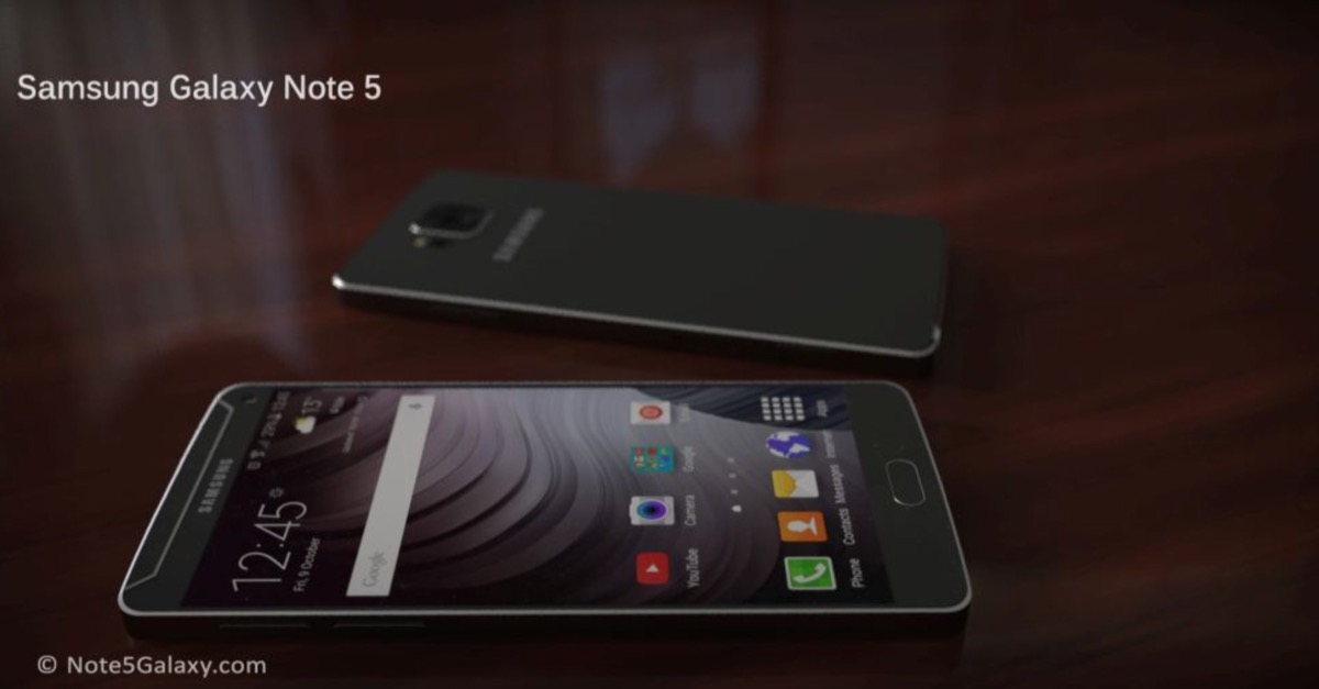 rendering Galaxy Note 5