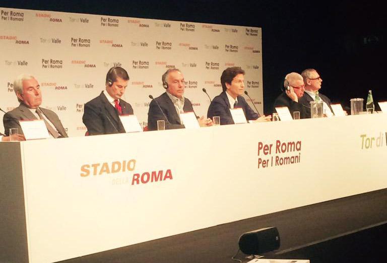 conferenza stadio della Roma