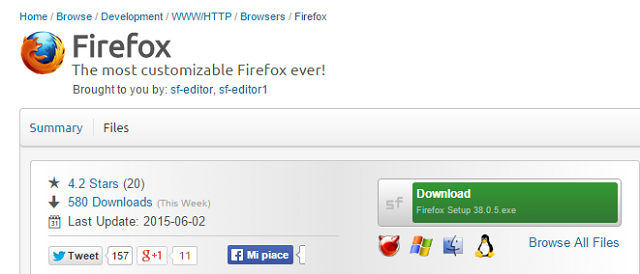firefox sourceforge