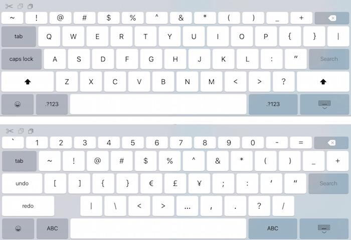 iOS 9 tastiera