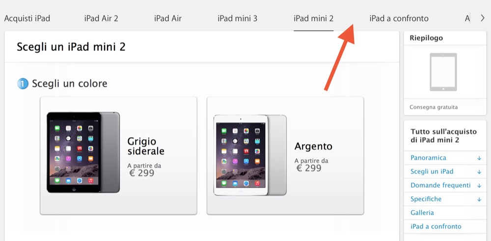 ipad mini eliminato