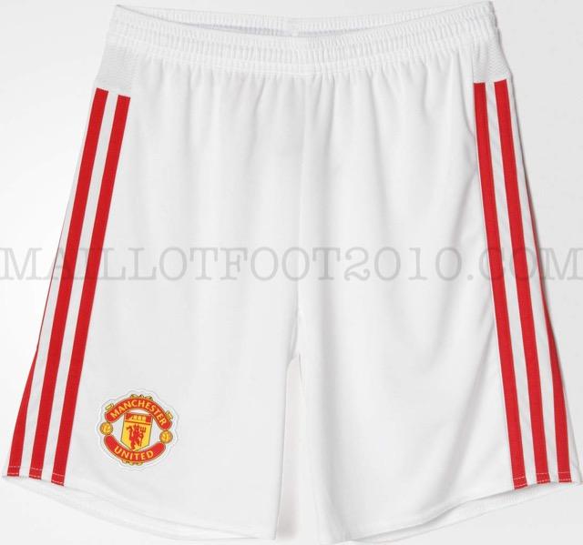 Prima maglia Adidas 2015-2016 manchester united pantaloncini