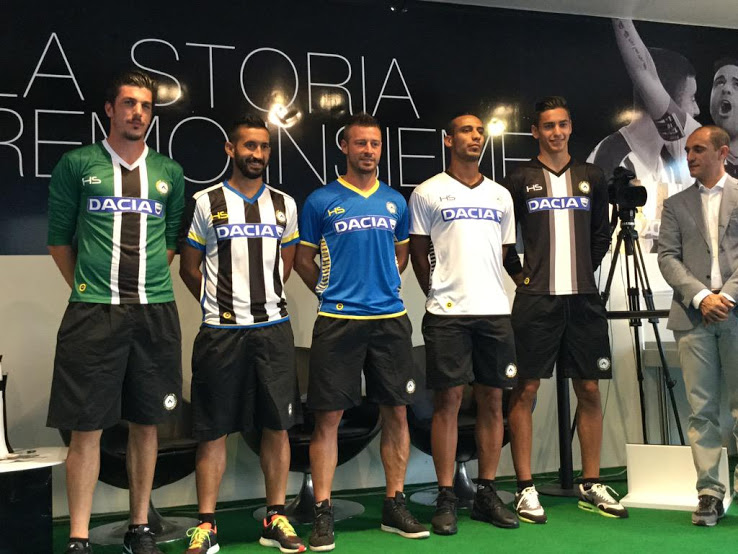 Udinese nuove maglie 15-16