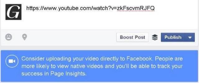 messaggio facebook video