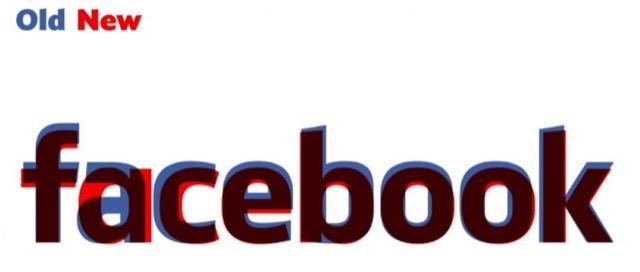 nuovo e vecchio logo facebook