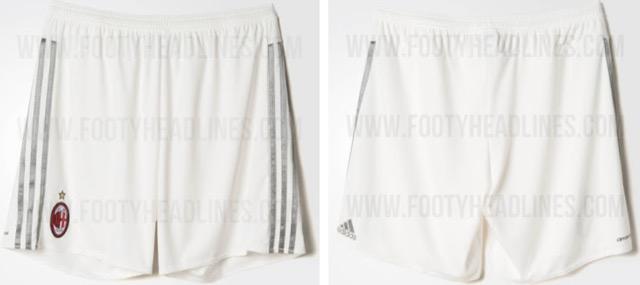 pantaloncini trasferta maglia milan 2015