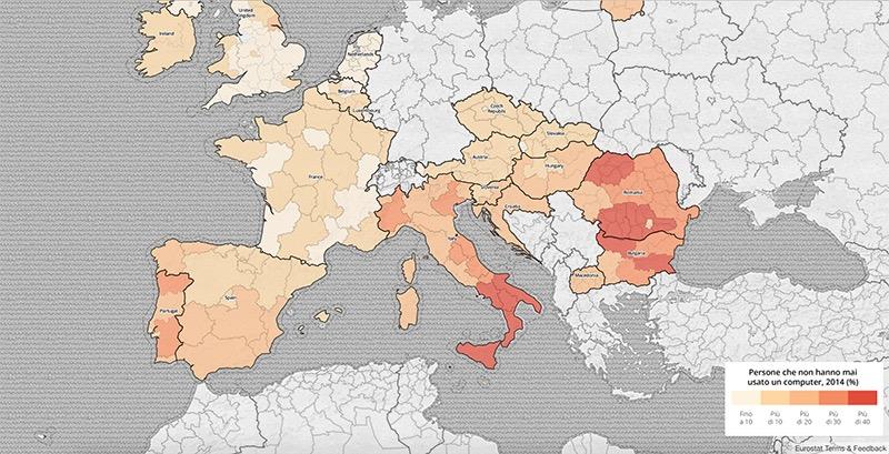 ricerca europei al computer