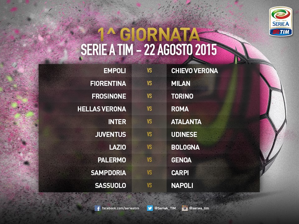 Tutto Il Calendario Serie A.Serie A Tutto Il Calendario 2015 2016 Overpress
