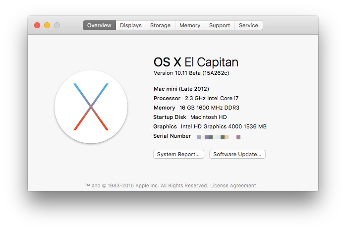 El Capitan 5 beta