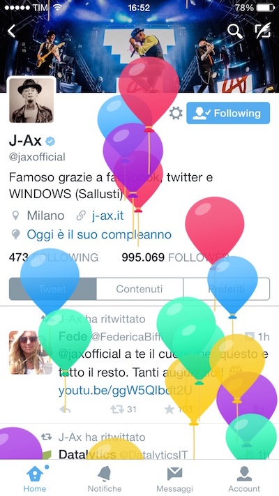 Twitter j-ax compleanno