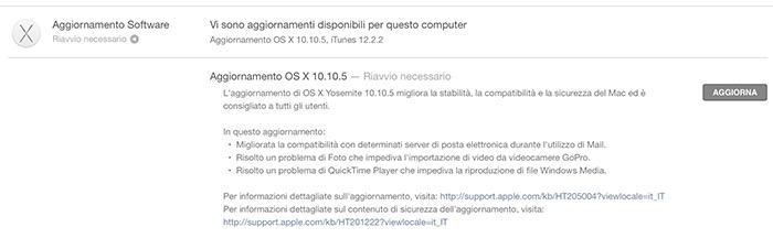 changelog os x 10.10.5
