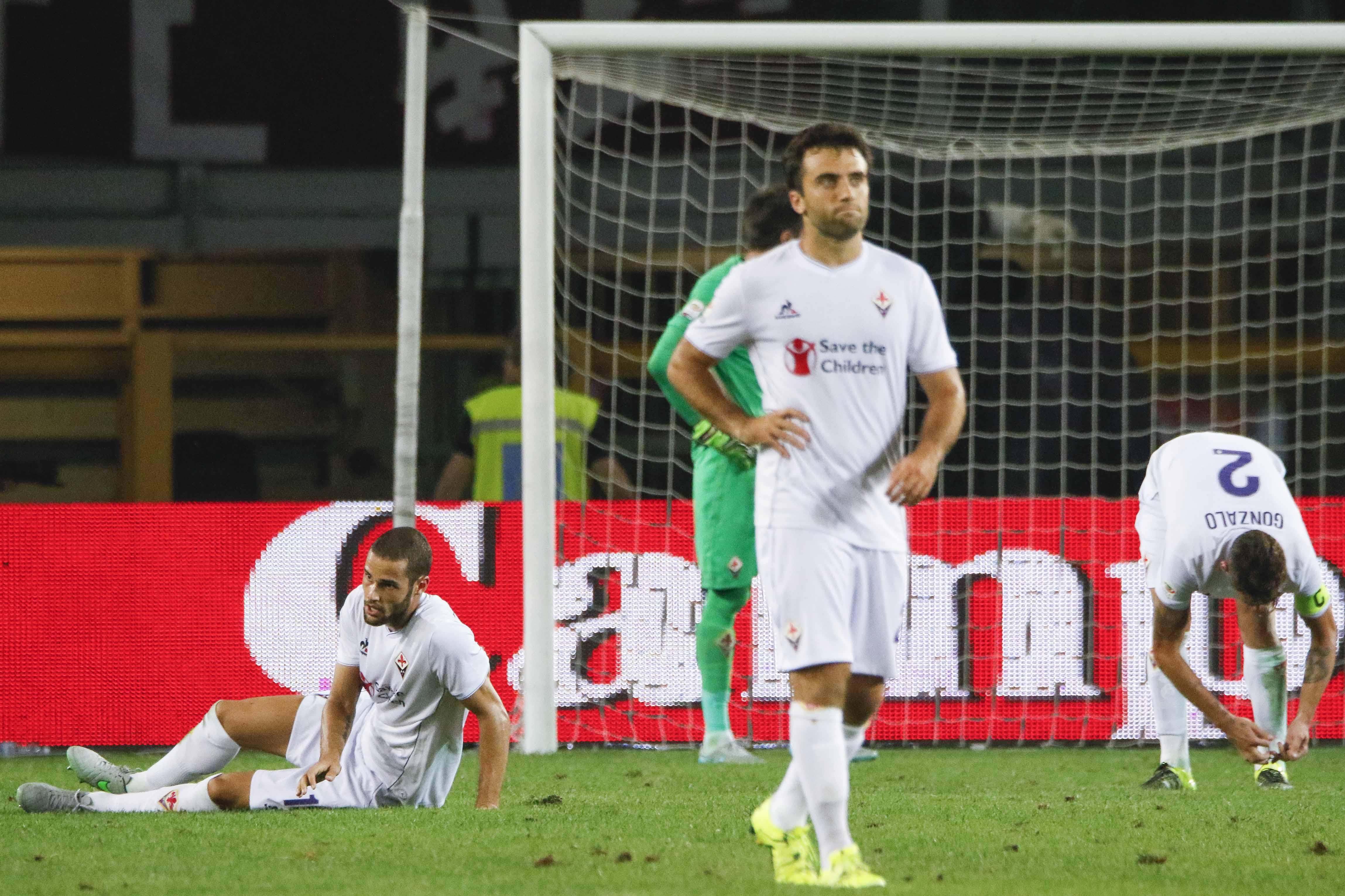 Rossi ieri in campo nella debacle della Fiorentina a Torino.