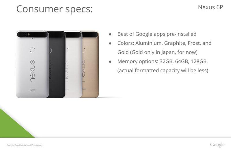 consumer spec nexus 6p