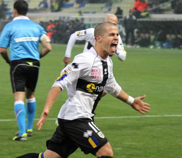 Giovinco con la maglia del Parma.