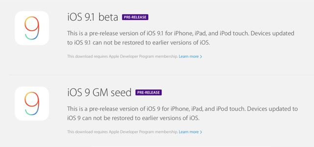 iOS 9 gm