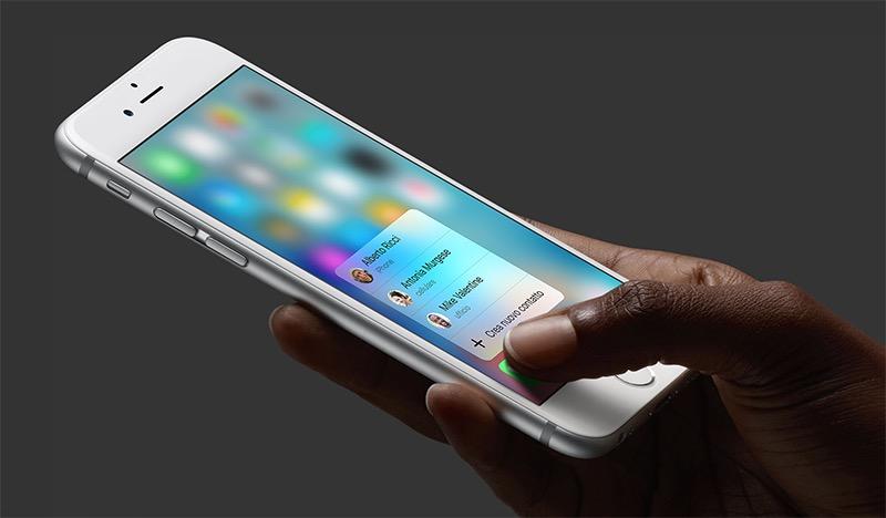 Alla scoperta del nuovo 3D Touch di iPhone 6s