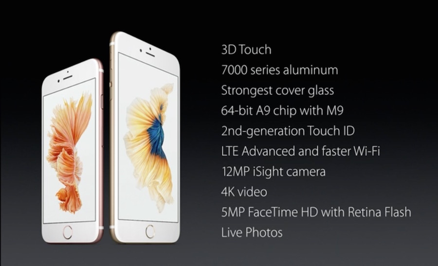 iPhone 6s specifiche