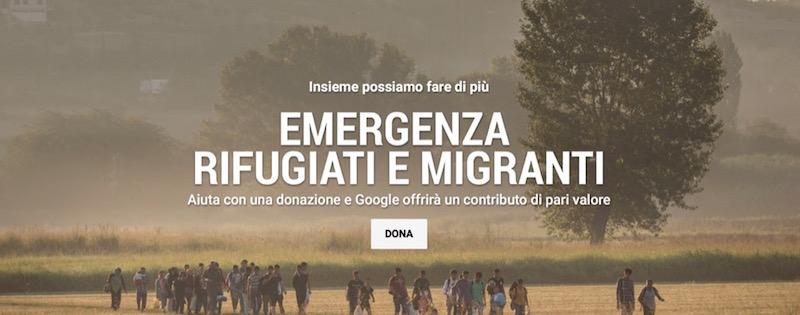 rifugiati google donazioni