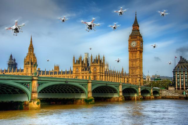 Regno Unito: la prima condanna per l'uso dei droni all'aperto