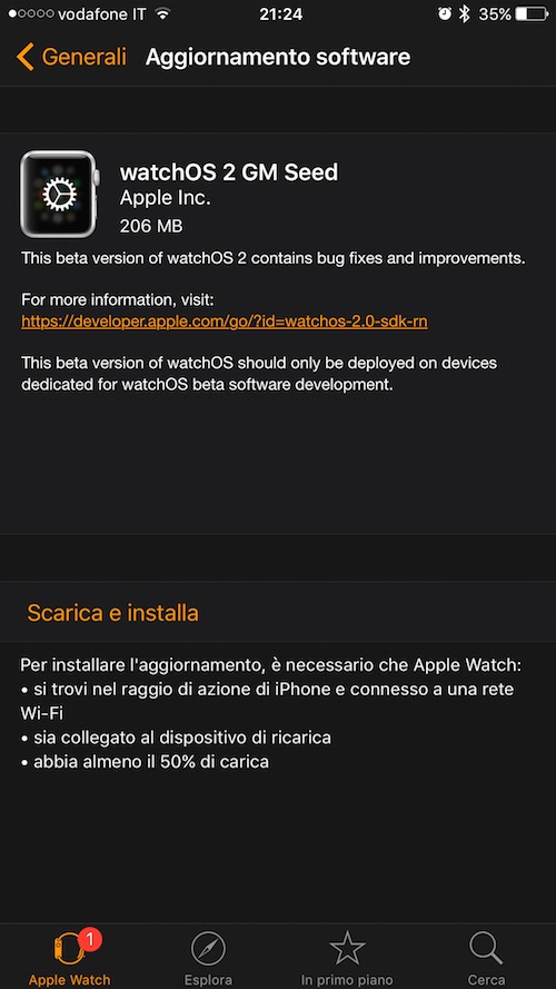 watchOS 2 GM