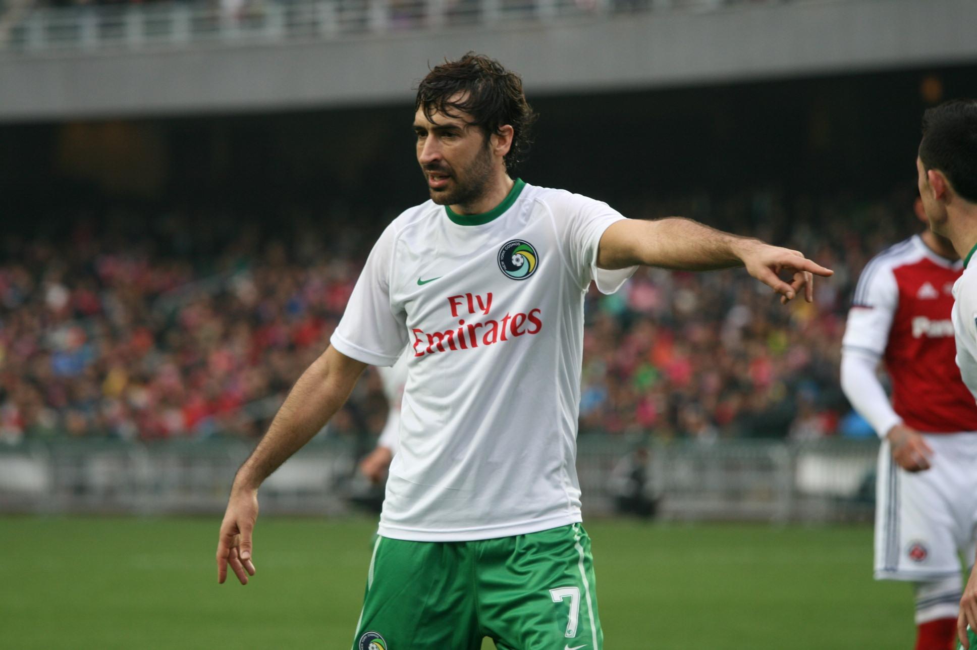 Raul con la maglia dei New York Cosmos.