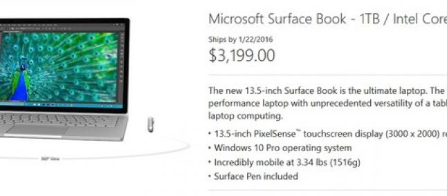 Surface Book 1 TB