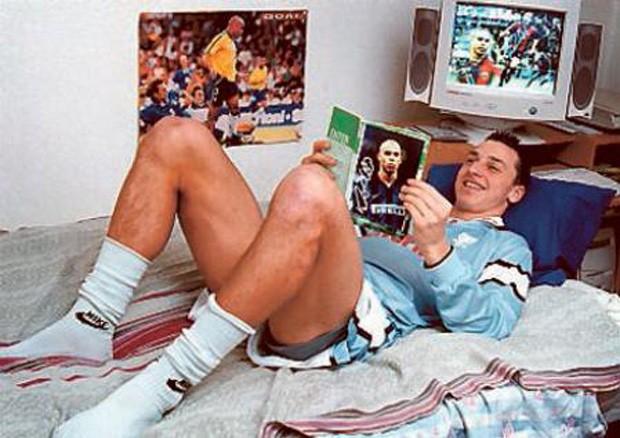 Un giovanissimo Ibrahimovic grandissimo fan di Ronaldo.