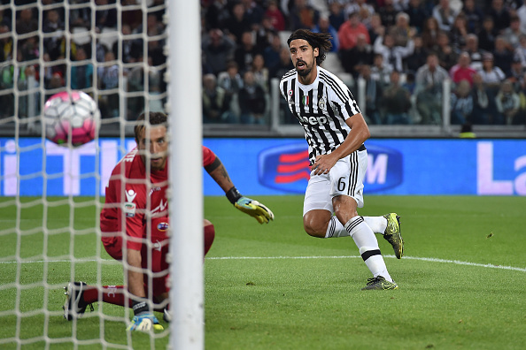 Il rientrante Khedira in gol nella vittoria della Juve per 3-1 contro il Bologna.