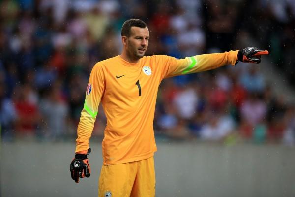 Samir Handanovic proverà a blindare la porta della Slovenia.
