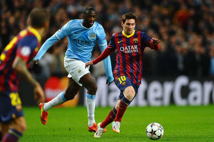 Messi e Yaya Tourè, stelle di Barcellona e City.