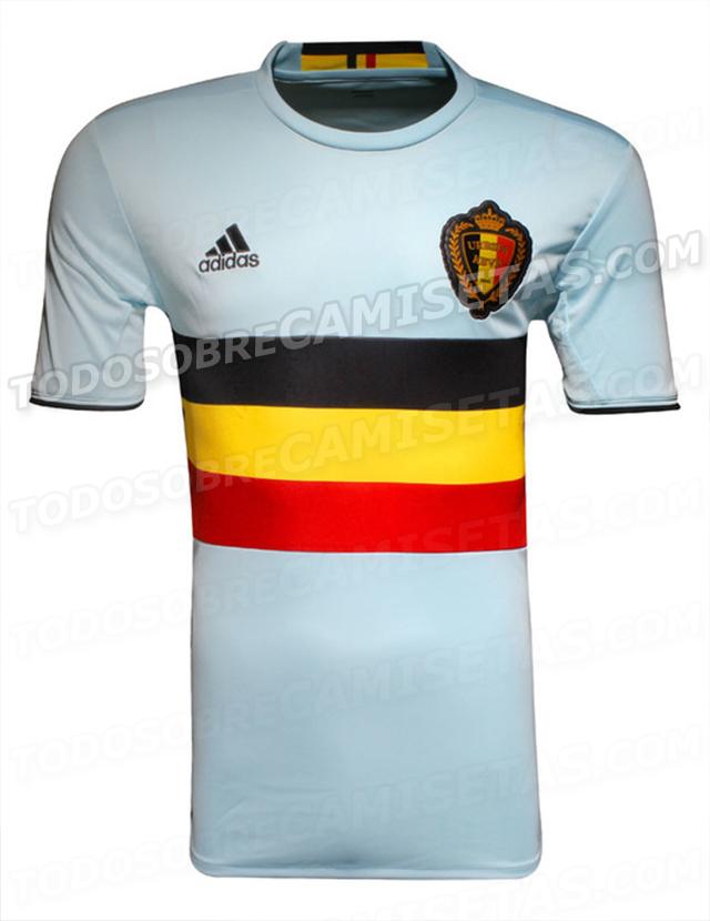 La maglia da trasferta dalla nazionale del Belgio