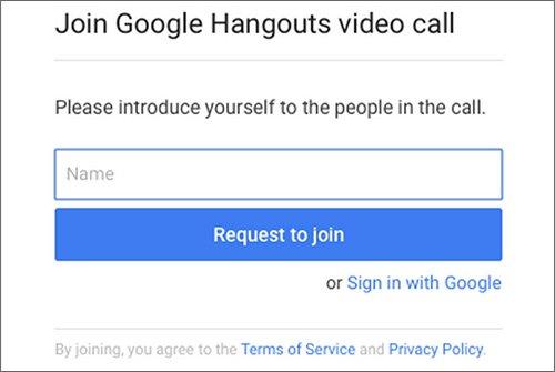 Hangouts senza account Google