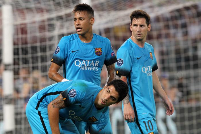 Neymar, Messi e Suarez potrebbero essere di nuovo schierati insieme dopo 54 giorni.