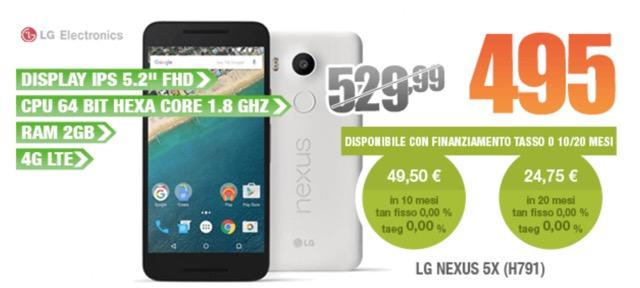 Nexus 5X LG offerta