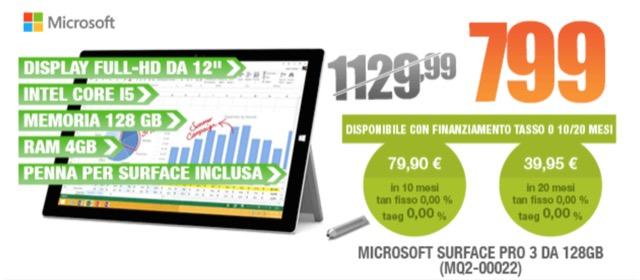 Surface Pro 3 offerta