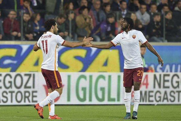 Salah e Gervinho, pericoli numero uno per la difesa laziale.