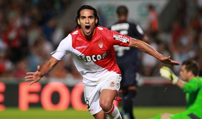 Falcao con il Monaco nel 2013-14.